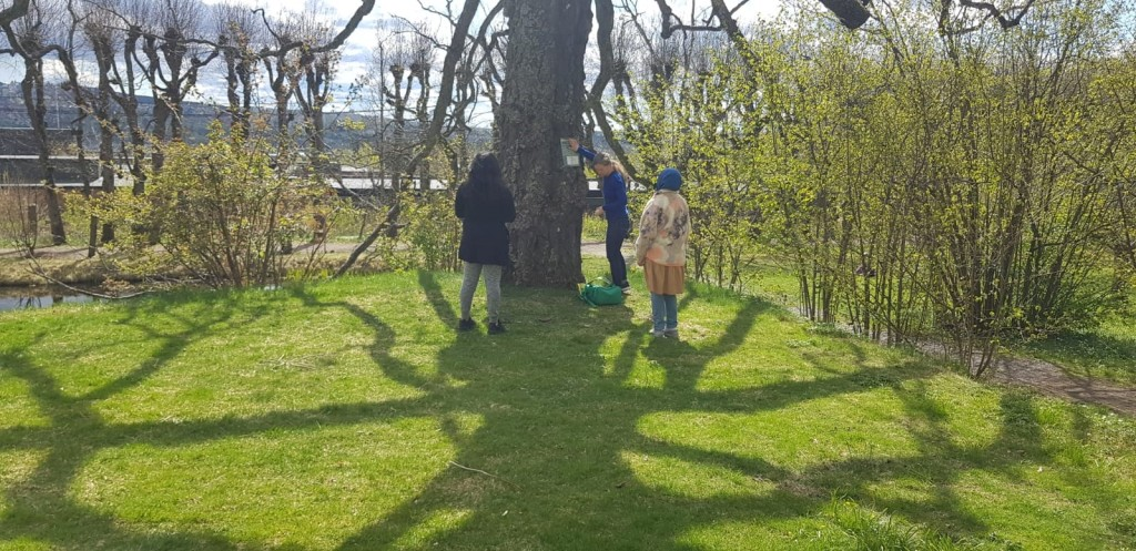 Activity Trail at Linderud placemaking with Oslo Living Lab youth and the Nabolagshager team