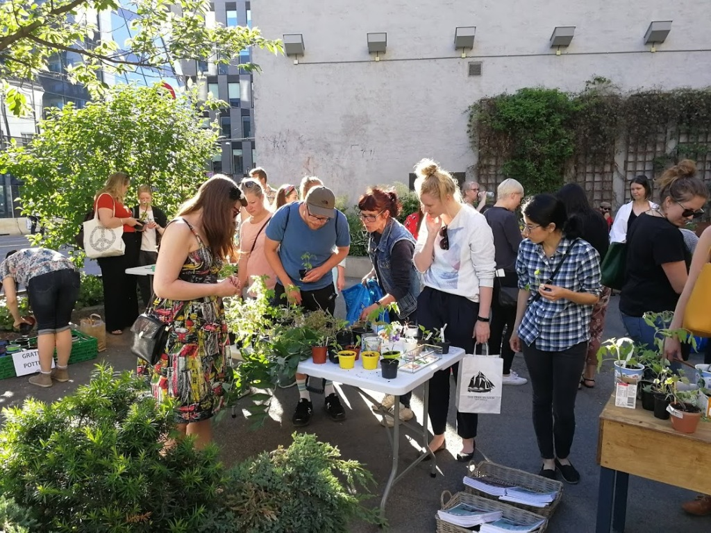plant and seed swap hosted by Nabolagshager as a placemaking and community engagement tool